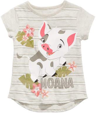 dbef6f26dc28 Disney Little Girls Moana Pua Graphic-Print T-Shirt