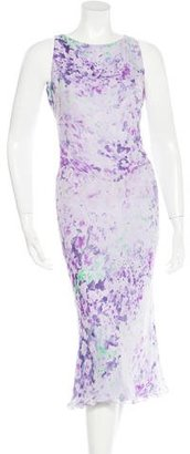 Vera Wang Watercolor Printed Midi Dress $145 thestylecure.com