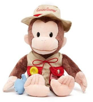 Gund Curious George Teach Me Fisherman Monkey Stuffed Animal Plush