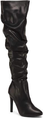 Slouchy High Heel Dress Boots