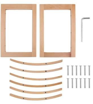 Smallrain European Style Wood Red Wine Shelf Rack 12 Bottles Holder Countertop Display