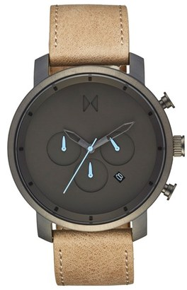 Mvmt Chronograph Leather Strap Watch, 45Mm $135 thestylecure.com