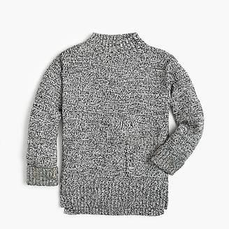 J.Crew Girls' marled mockneck tunic sweater
