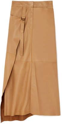 Joseph Beck Wrap Leather Skirt