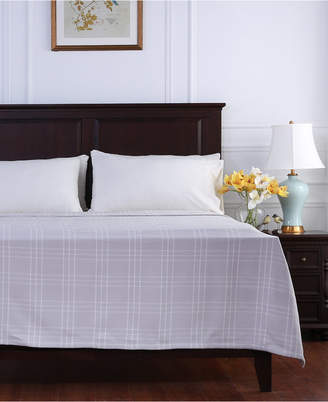 Berkshire Comfy Cotton Check Full/Queen Blanket Bedding