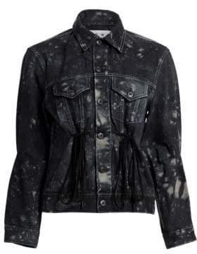 Drawstring-Waist Denim Jacket