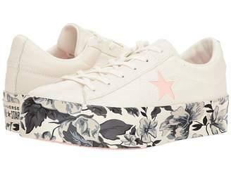 Converse One Star Platform Floral Ox