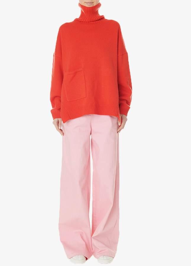 Garment Dyed Wide-Leg Jean