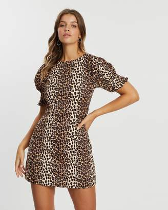 Atmos & Here Leopard Print Dress