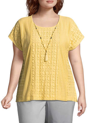 Alfred Dunner Charleston Lace Tee- Plus