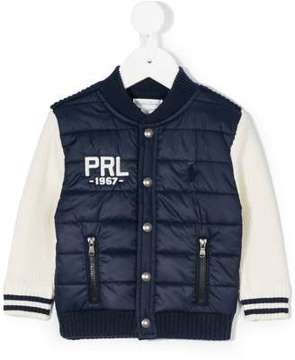 Ralph Lauren knitted sleeves bomber jacket