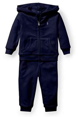 Ralph Lauren French Terry Zip-Up Jacket w/ Sweatpants, Size 6-24 Months
