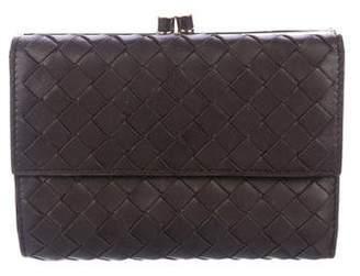 Bottega Veneta Intrecciato Leather Compact Wallet