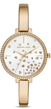 Michael Kors Jaryn Yellow Gold-Tone Watch, 36mm
