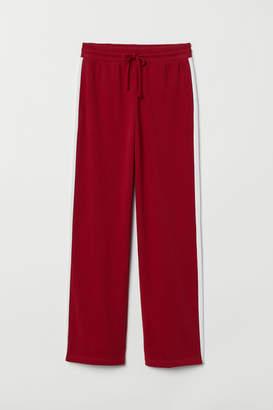 H&M Straight-leg Sweatpants - Red