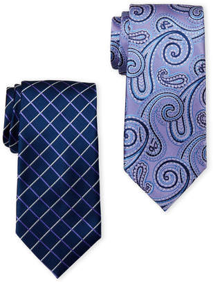 U.S. Polo Assn. Two-Pack Grid & Paisley Printed Ties