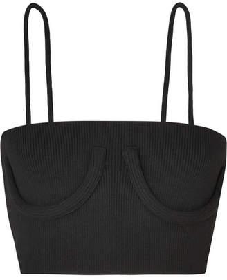 Orseund Iris - Cropped Stretch-jersey Corset Top - Black