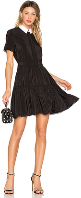 Kenzo Silk Mini Dress in Black $680 thestylecure.com