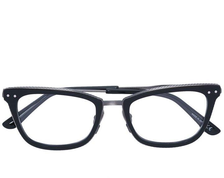 Bottega VenetaBottega Veneta Eyewear square frame glasses