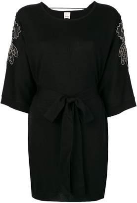 Pinko embellished belted dress