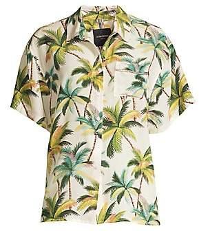 Le Superbe Women's Club Tropicana Embellished Print Shirt - Size 0