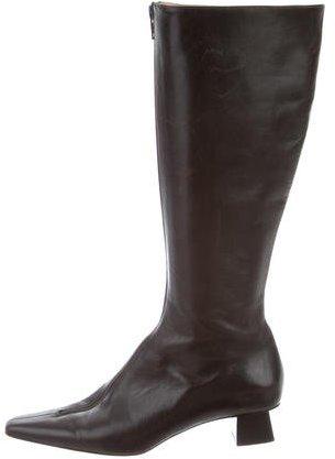 Michael Kors Square-Toe Knee-High Boots