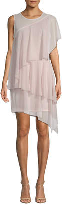 BCBGMAXAZRIA Ruffled Shift Dress