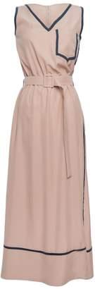 Tomcsanyi - Halep Nude Silky Contrast Maxi Dress