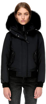 Mackage BRITNIE BOMBER CUT DOWN JACKET WITH BLACK FUR
