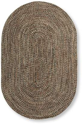 L.L. Bean L.L.Bean All-Weather Braided Rug, Concentric Pattern Oval