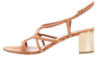Salvatore Ferragamo Suede Embellished Sandals