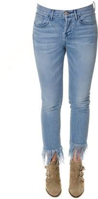 3x1 Denim Fringed Jeans