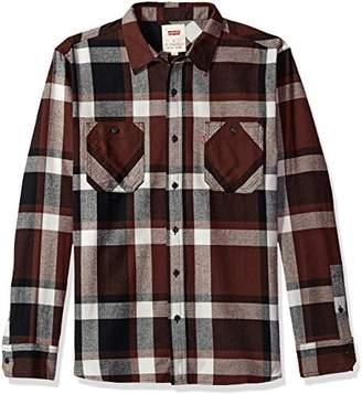 Levi's Men's Berg Long Sleeve Cotton Flannel Shirt