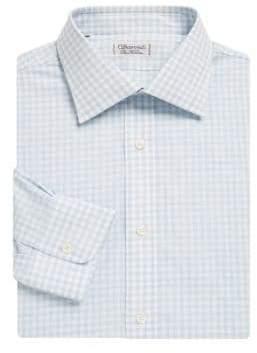 Charvet Slim-Fit Plaid Dress Shirt