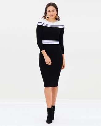 Karen Millen Striped Knitted Midi Dress