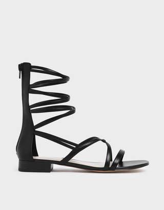 Charles & Keith Low Heel Gladiator Sandals