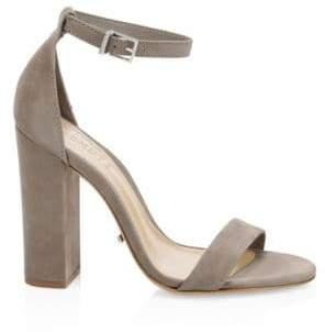 Schutz Enida Suede Block-Heel Sandals