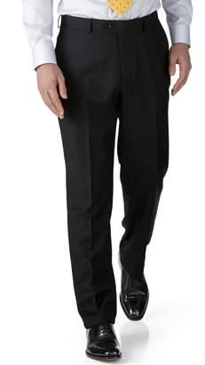 Charles Tyrwhitt Black Slim Fit Twill Business Suit Wool Pants Size W28 L38