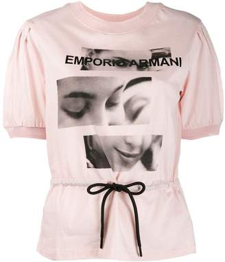 Emporio Armani graphic belted top