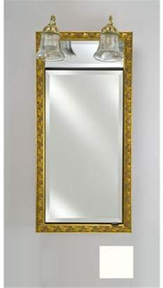 Afina Corporation SD-LT2030RARLWT 20 in.x 30 in.Recessed Single Door Cabinet with Traditional Lights - Arlington White