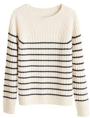 MANGO Striped cashmere sweater