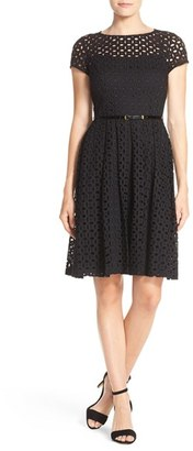 Women's Ellen Tracy Eyelet Lace Fit & Flare Dress $118 thestylecure.com