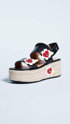 Moschino Love Platform Flower Sandals