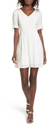 Women's Dee Elly Tie Sleeve Skater Dress $55 thestylecure.com