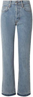 Helmut Lang Cropped High-rise Straight-leg Jeans - Indigo