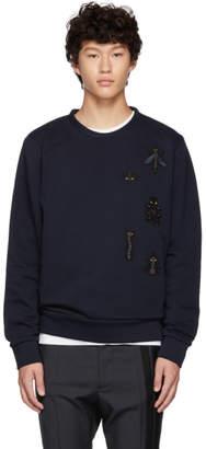 Fendi Navy Super Bugs Sweatshirt