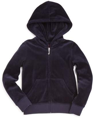 Juicy Couture Black Label Girls' Robertson Velour Hoodie, Little Kid - 100% Exclusive