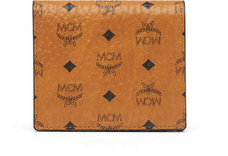 MCM Two Fold Flat Wallet In Visetos Original
