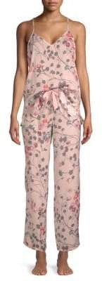 Natori Two-Piece Floral-Print Pajama Set