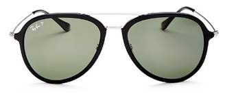 Ray-Ban Unisex Polarized Aviator Sunglasses, 57mm